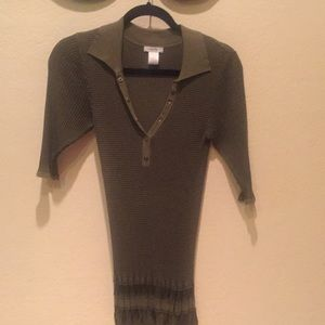 Cache 3/4 sleeve knit top size M